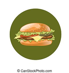 Burger. Cheeseburger vector