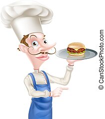 Burger Chef Pointing