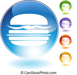 burger crystal icon