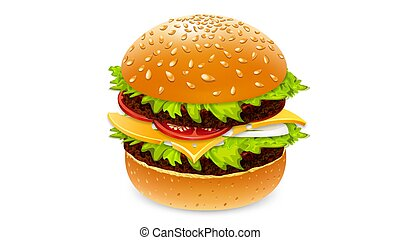 Burger drink and french fries