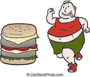 burger, ember