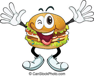 burger - illustration of a burger on a white background