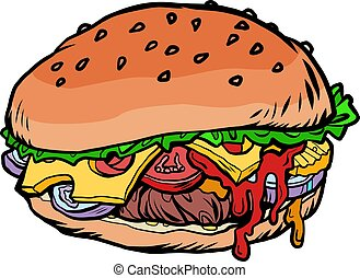 Burger fast food illustration