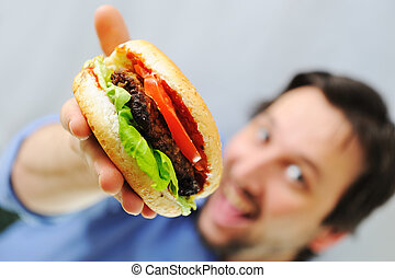Burger, fast food