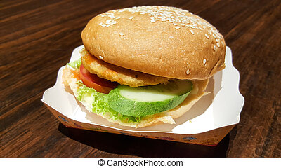 burger handmade street food