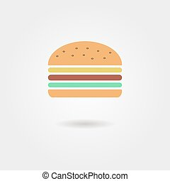 burger icon with shadow