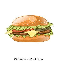 Burger isolated on white background