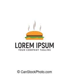 burger logo design concept template