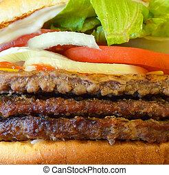 Burger macro shot