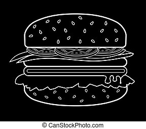Burger meat . eps 10 vector illustration