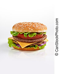 burger - Tasty burger close up