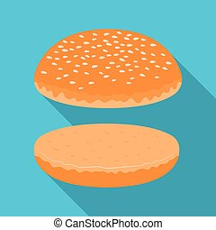 Burger roll. Burgers and ingredients single icon in flat style vector symbol stock illustration.