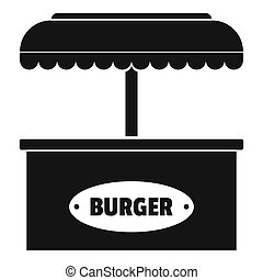 Burger selling icon, simple style.