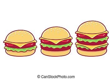Burger set illustration