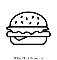 burger thin line vector icon