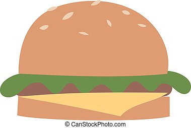 Burger vector illustration.