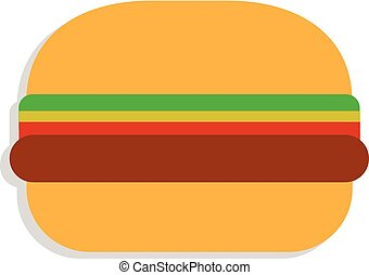 Burger. Vector illustration