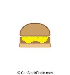 Burger vector illustration write backround.