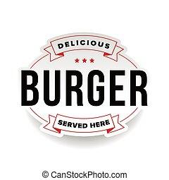 Burger vintage logo stamp