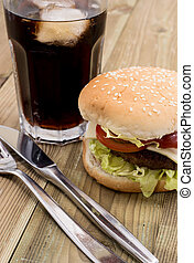 Burger with Softdrink