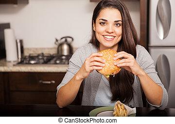 Burgers are delicious