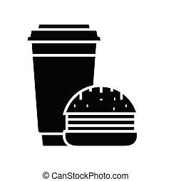 Burgers black icon, concept illustration, vector flat symbol, glyph sign.