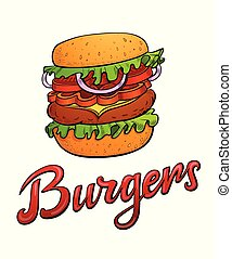 Burgers lettering and illustration