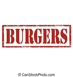 Burgers-red stamp