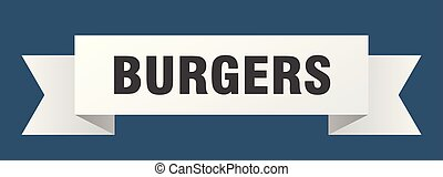 burgers ribbon. burgers isolated sign. burgers banner