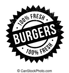 Burgers stamp rubber grunge