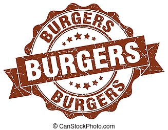 burgers stamp. sign. seal