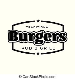 Burgers Vintage sign black logo