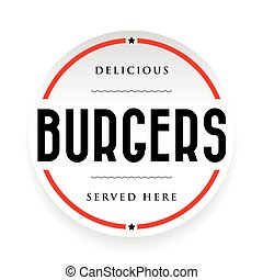 Burgers vintage stamp black sign