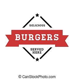 Burgers vintage stamp retro