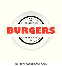 Burgers vintage stamp sign