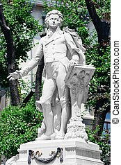 burggarten, 記念, モーツァルト, /, オーストリア, 記念碑, ウィーン