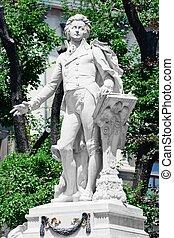 burggarten, monumento conmemorativo, mozart, /, austria, ...