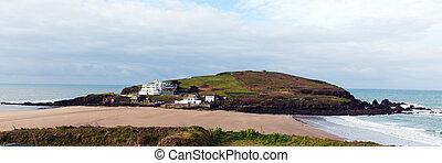 Burgh Island Devon UK panorama