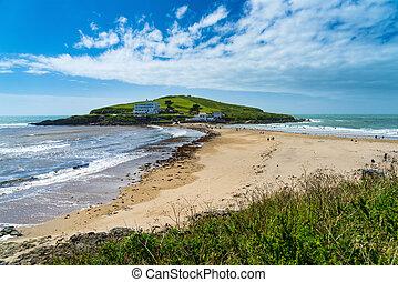 Burgh Island from Bigbury-On-Sea South Hams Devon England UK...