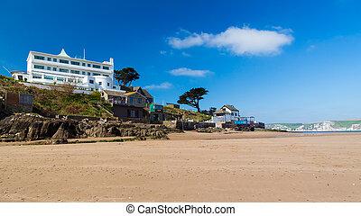 Burgh Island South Devon England - The tidal island of Burgh...