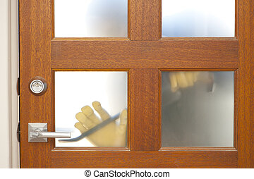 Burglar housebreaking security door
