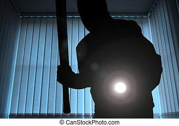 Burglar or intruder at night