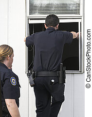 burglary, investigar, polícia