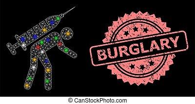 burglary, rede, brilhar, angústia, selo, mensageiro, vacina, pontos