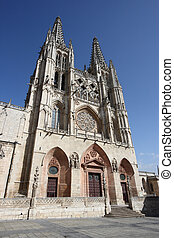 Burgos Cathedral, Gothic church in Spain. UNESCO World ...
