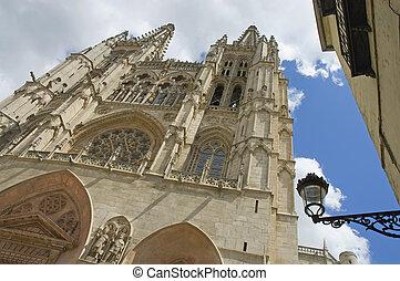 Burgos cathedral in Castilla y Leon, Spain