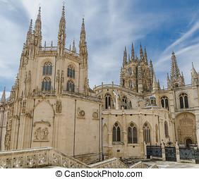 Burgos cathedral rear