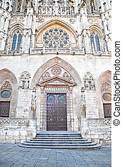 Burgos. Entrance in Cathedral of Our Lady - Cathedral in the...