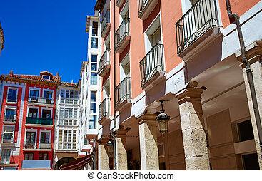 Burgos Plaza Mayor square in Castilla Spain