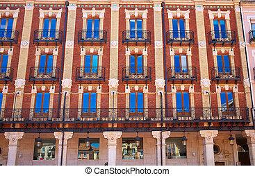 burgos, sindaco piazza, quadrato, in, castilla, spagna